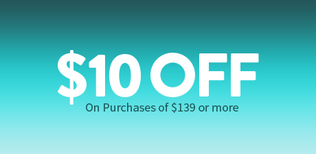 $10 Off on purchase of $139 or more.