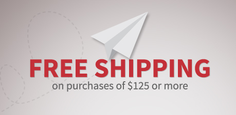 Free Shipping on purchase of $125 or more.