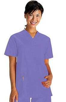clearance750: White Swan Fundamentals Women's 2-Pocket V-Neck Solid Scrub Top