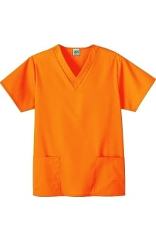 clearance750: Fundamentals by White Swan Women's 2-Pocket V-Neck Solid Scrub Top