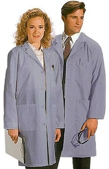 "unisex lab coat: META Labwear Unisex Colored 40"" Lab Coat"