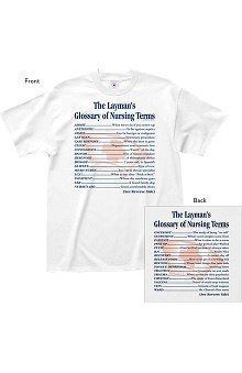 L.A. Imprints Attitude Layman's Guide to Nursing Terms Print T-Shirt