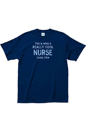 Clearance L.A. Imprints Attitude Print Really Cool Nurse T-Shirt