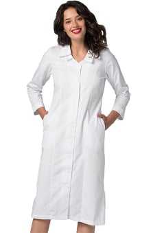 Universal Basics By Adar Women's Embroidered Collar Scrub Dress