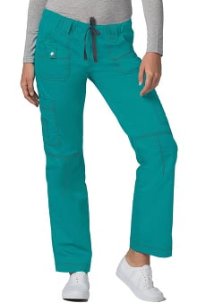 Clearance Pop Stretch Taskwear by Adar Women's Straight Leg Low Rise Cargo Scrub Pant