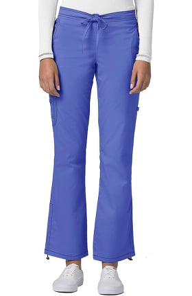 Pop Stretch Taskwear by Adar Women's Boot Cut Cargo Scrub Pant