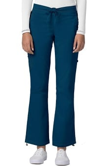 Clearance Pop Stretch Taskwear by Adar Women's Boot Cut Cargo Scrub Pant