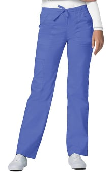 Pop Stretch Taskwear by Adar Women's Straight Leg Mid Rise Cargo Scrub Pant