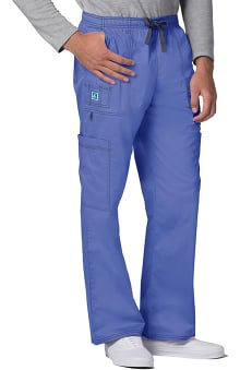 Pop Stretch Taskwear by Adar Men's Stretch 7 Pocket Cargo Scrub Pant