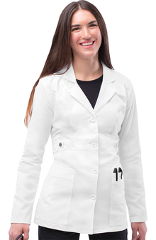 "Pop Stretch Taskwear by Adar Women's 28"" Lab Coat"