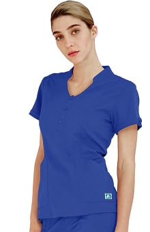 Indulgence by Adar Women's Keyhole Scrub Top