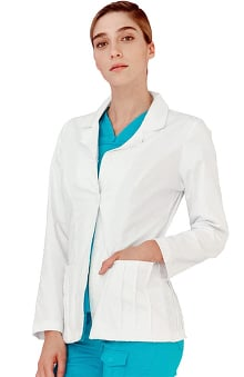 Indulgence by Adar Women's Pin Tuck Consulation Lab Coat