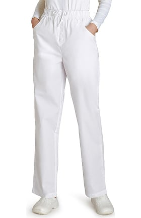 Universal Basics by Adar Women's Mock Fly Solid Scrub Pant
