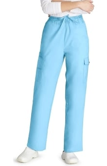 unisex pants: Universal Basics by Adar Unisex Multi Pocket Solid Scrub Pants