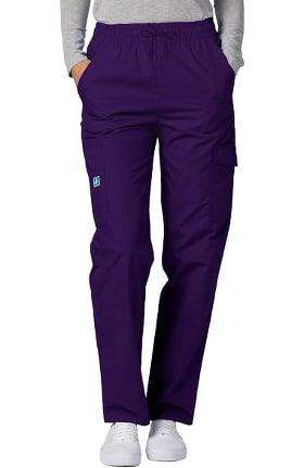 Universal Basics by Adar Unisex Multi Pocket Solid Scrub Pants