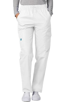 Universal Basics by Adar Women's Multi Pocket Twill Cargo Solid Scrub Pant