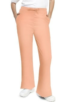 Clearance Universal Basics by Adar Women's Flare Leg Solid Scrub Pants