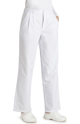 Universal Basics by Adar Women's Twill Pleated Solid Scrub Pant