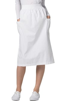 Universal Basics by Adar Women's A-Line Patch Pocket Scrub Skirt