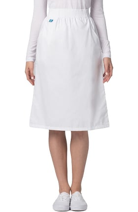 Universal Basics by Adar Women's A-Line Side Pocket Scrub Skirt