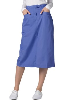 Universal Basics by Adar Women's Mid-Calf Angle Pocket Scrub Skirt
