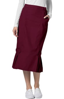 Universal Basics by Adar Women's Tabbed Pleat Panel Scrub Skirt