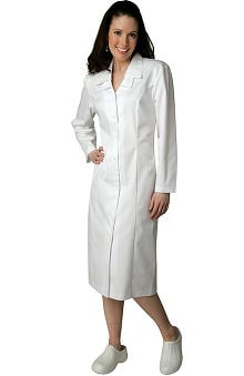 Universal Basics by Adar Women's Double Embroidered Collar Scrub Dress