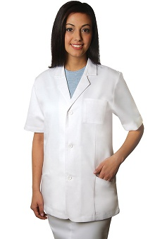 Universal Lab Coats by Adar Women's Short Sleeve Lab Solid Jacket