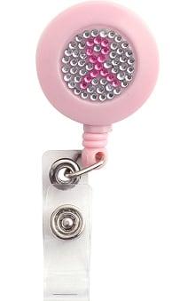 pink ribbon accessories: Scrub Stuff Women's Pink Ribbon Bling Badge Reel