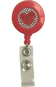 Scrub Stuff Women's Bling Heart Awareness Retractable Badge Reel