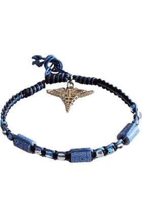 Scrub Stuff Caduceus Charm Rope Bracelet