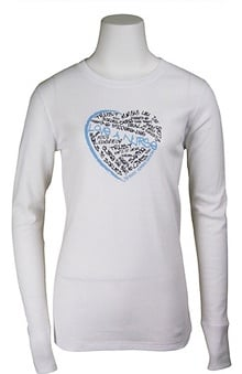 Scrub Stuff Women's Love A Nurse Graffiti Print Thermal T-Shirt