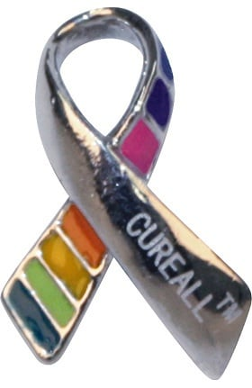 Scrub Stuff Cure All Cancer Awareness Pin