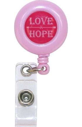 Scrub Stuff Women's Love Hope Retractable Id Badge Reel