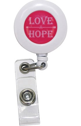 Scrub Stuff Women's Love Hope Retractable Id Badge Reel