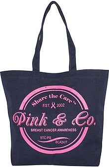 Scrub Stuff Women's Pink & Co. Canvas Tote