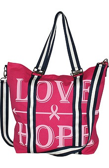 Scrub Stuff Women's Love Hope Oversized Canvas Tote