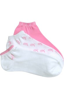Scrub Stuff Women's Pink Ribbon Socks 3 Pack