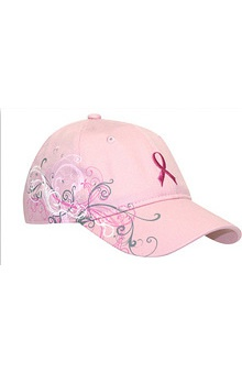 Scrub Stuff Women's Pink Ribbon Graphic Baseball Cap