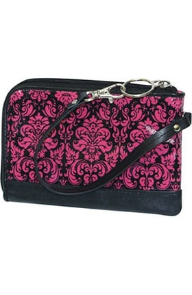 Scrub Stuff Women's Pink Ribbon Wristlet Bag