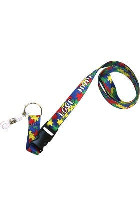 Scrub Stuff Autism Awareness Lanyard