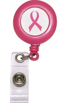 Scrub Stuff Women's Pink Ribbon Badge Reel