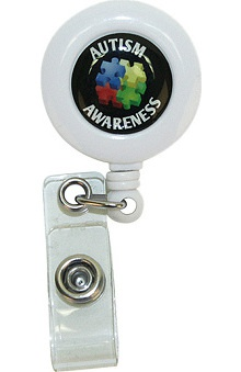 Scrub Stuff Autism Awareness Badge Reel