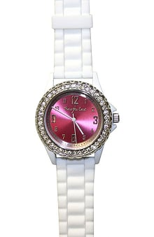 pink ribbon accessories: Scrub Stuff Women's Share The Care Pink Face Watch