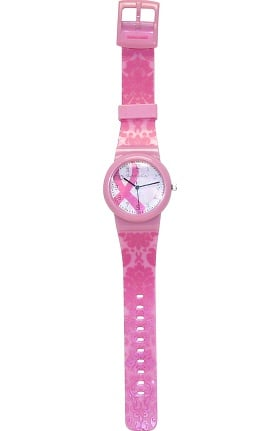 Scrub Stuff Women's Pink Ribbon Jelly Watch