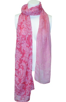 Clearance Scrub Stuff Women's Pink Ribbon Scarf
