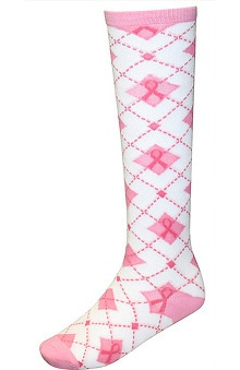 Scrub Stuff Women's Pink Ribbon Knee-High Socks