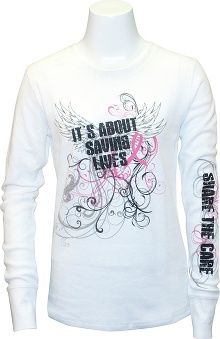pink ribbon scrubs: Scrub Stuff Women's BCA Long Sleeve Print T-Shirt