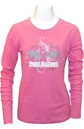 Scrub Stuff Women's BCA Cureageous Long Sleeve Print T-Shirt