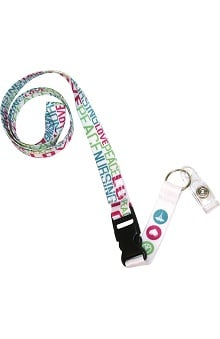 Scrub Stuff Women's Peace Love Lanyard